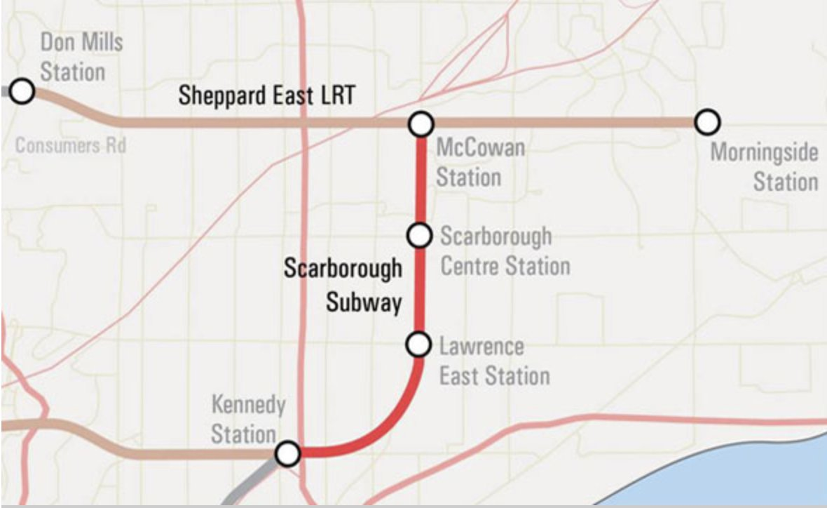 Scarborough Subway Extension Map